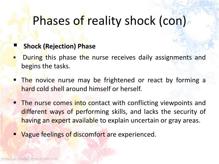 Phases of reality shock (con)