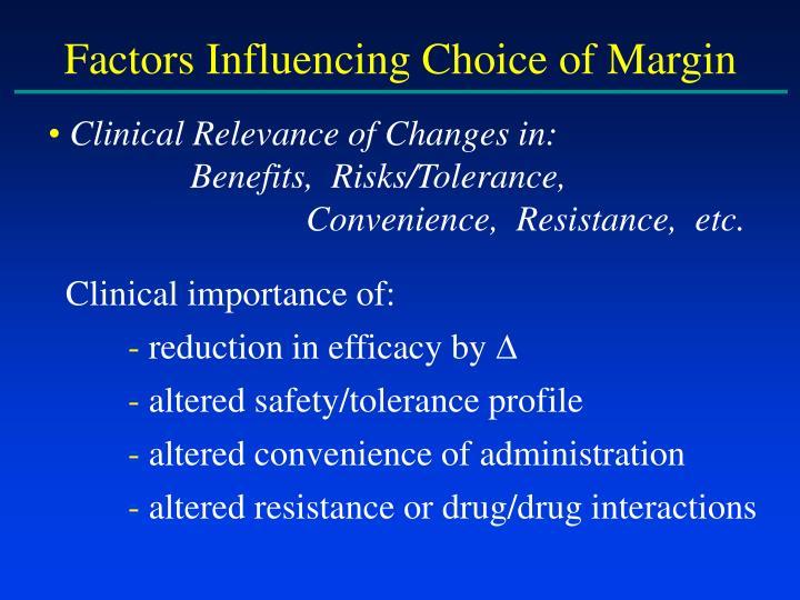 Factors Influencing Choice of Margin