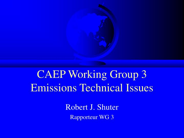caep working group 3 emissions technical issues n.