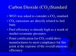 carbon dioxide co 2 standard