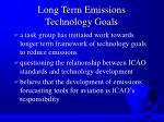 long term emissions technology goals
