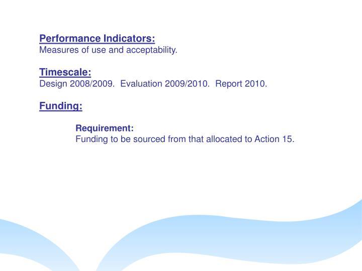 Performance Indicators: