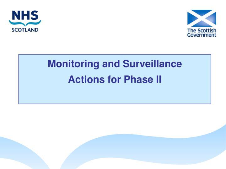 Monitoring and Surveillance