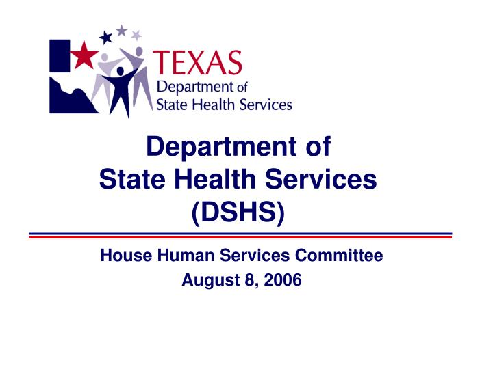 department of state health services dshs n.