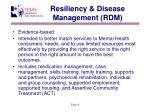 resiliency disease management rdm