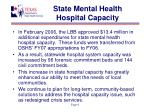 state mental health hospital capacity