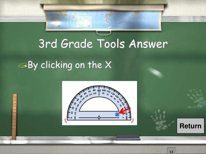 3rd Grade Tools Answer