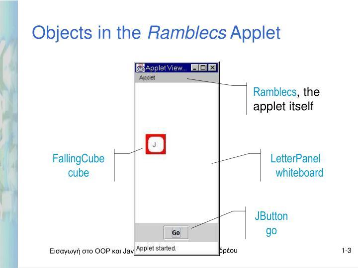 Objects in the ramblecs applet