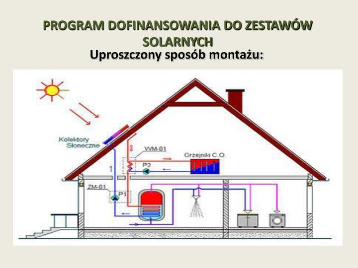 Program dofinansowania do zestaw w solarnych