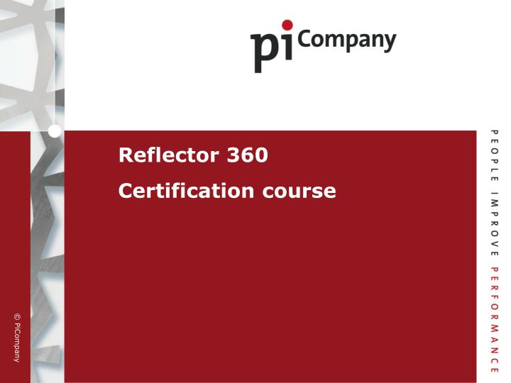 Reflector 360 certification course