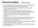chemical handling n a soft labs