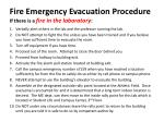 fire emergency evacuation procedure if there is a fire in the laboratory
