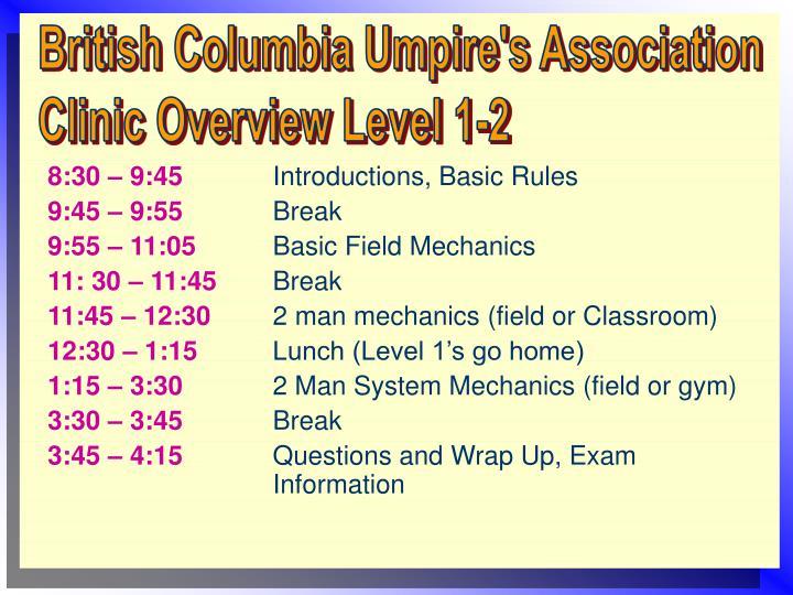 British Columbia Umpire's Association