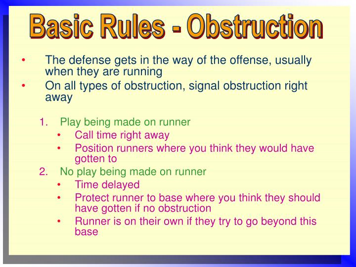 Basic Rules - Obstruction