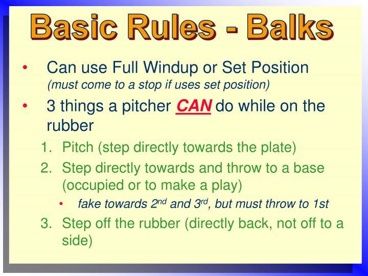 Basic Rules - Balks