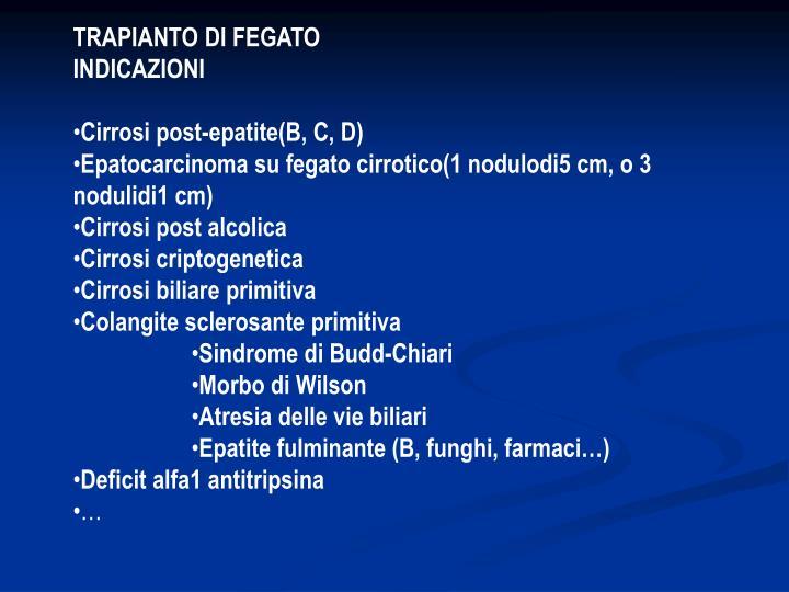 TRAPIANTO DI FEGATO