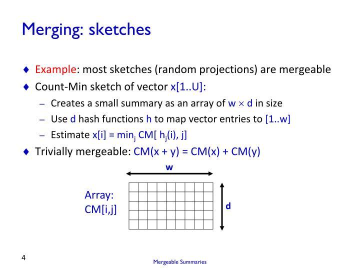 Merging: sketches