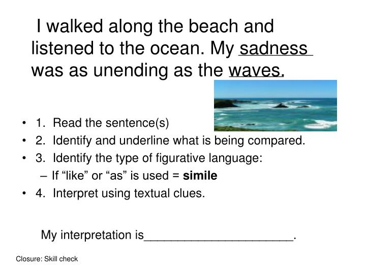 I walked along the beach and listened to the ocean. My sadness was as unending as the waves.