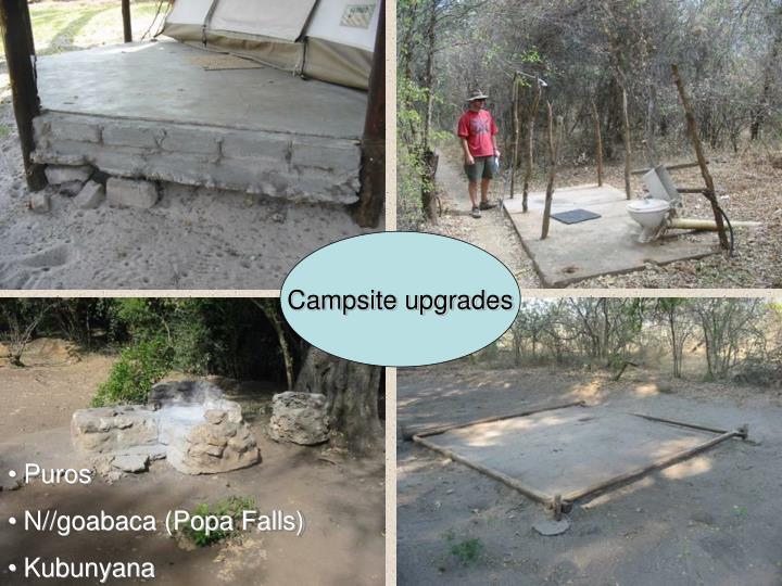 Campsite upgrades