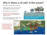 why is there a oil well in the ocean