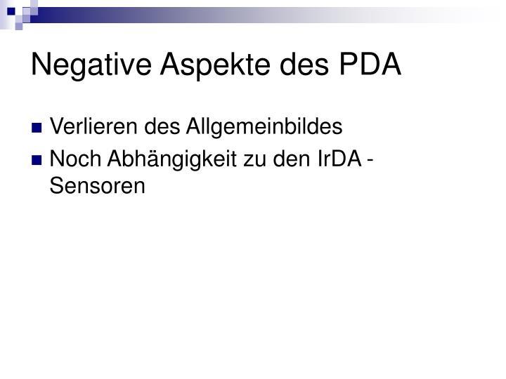 Negative Aspekte des PDA