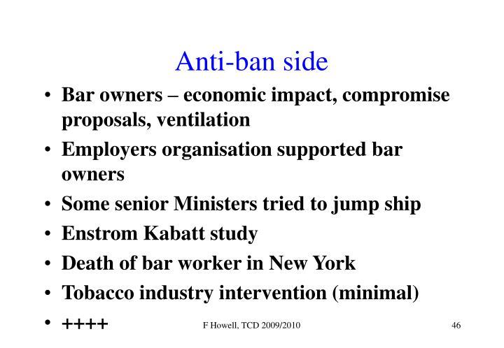 Anti-ban side
