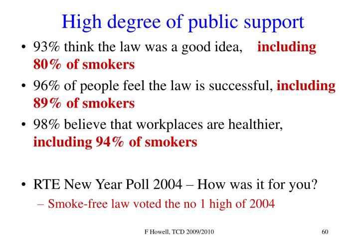 High degree of public support