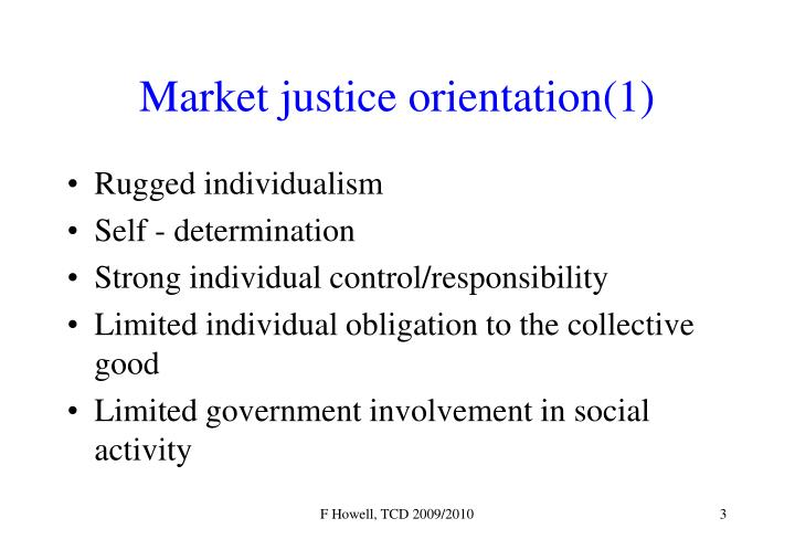 Market justice orientation 1