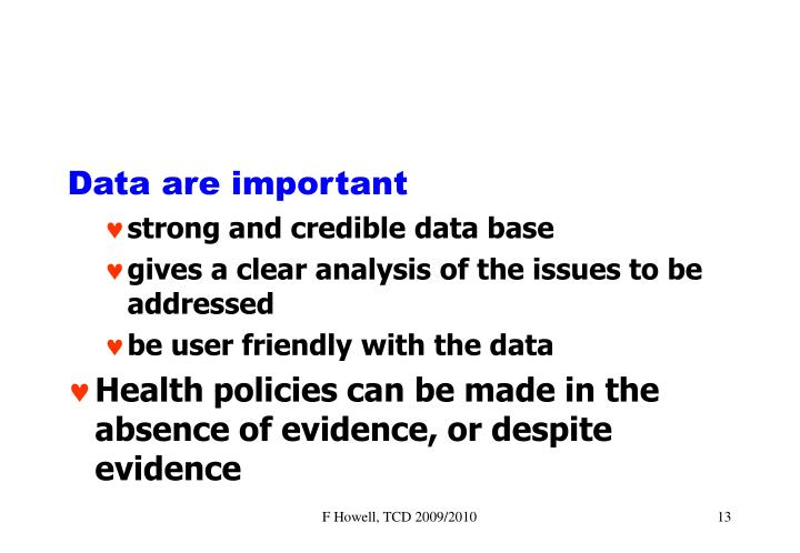 Data are important