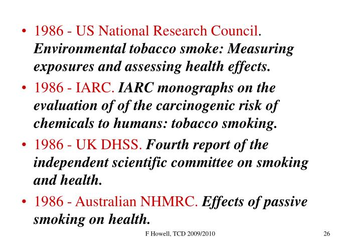1986 - US National Research Council
