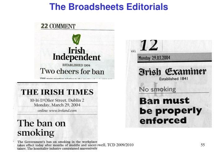 The Broadsheets Editorials