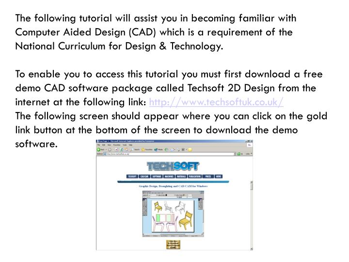 PPT - An introduction to CAD using TechSoft 2D Design