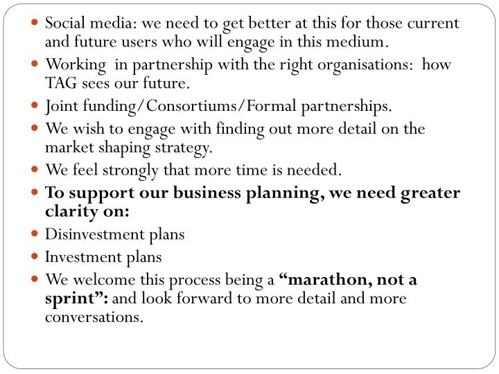 Social media: we need to get better at this for those current and future users who will engage in this medium.
