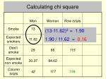 calculating chi square