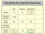 calculating the expected frequencies2