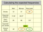calculating the expected frequencies3