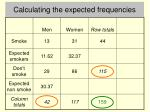 calculating the expected frequencies4
