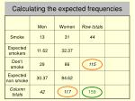 calculating the expected frequencies5