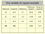 one variable chi square example5