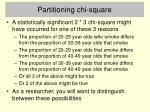 partitioning chi square
