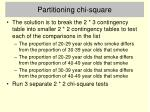partitioning chi square1