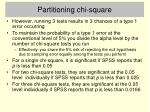 partitioning chi square2