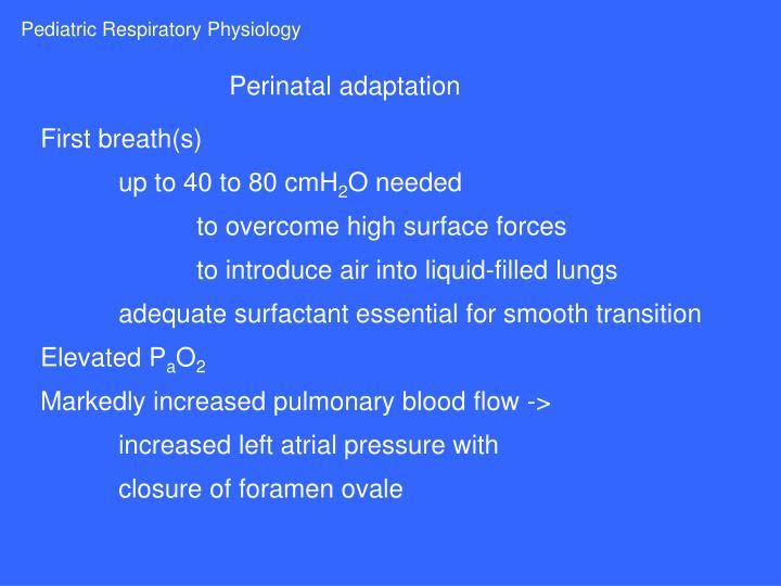 Pediatric Respiratory Physiology