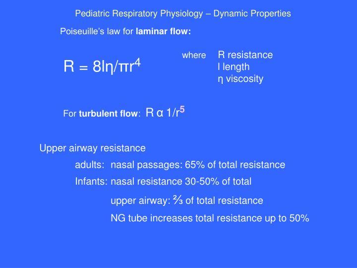 Pediatric Respiratory Physiology – Dynamic Properties