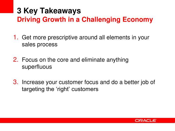 3 Key Takeaways