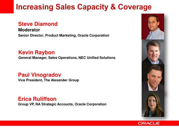 Increasing Sales Capacity & Coverage