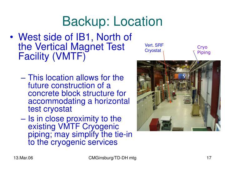 Backup: Location