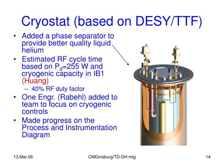 Cryostat (based on DESY/TTF)