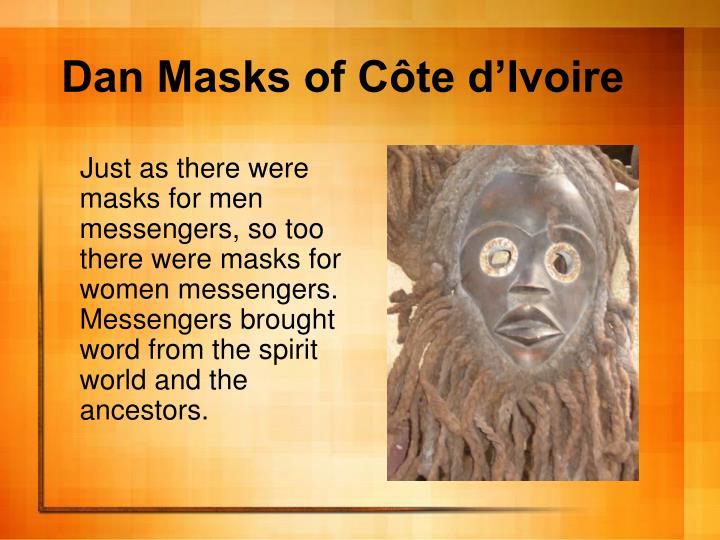 Dan masks of c te d ivoire1