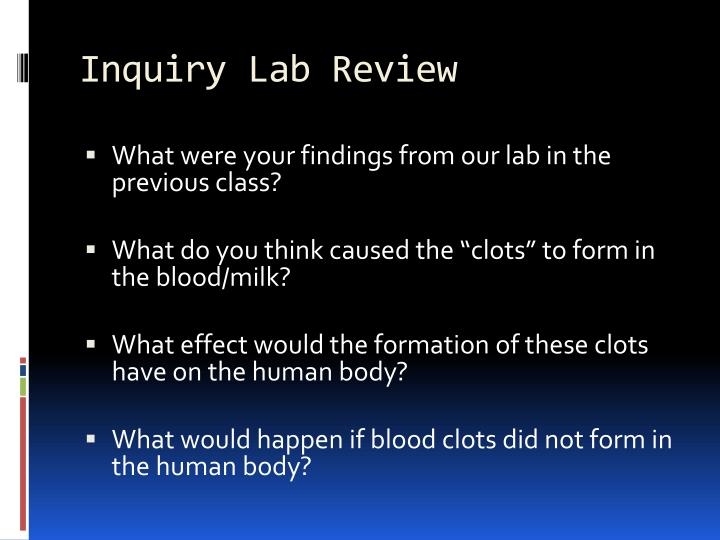 Inquiry lab review